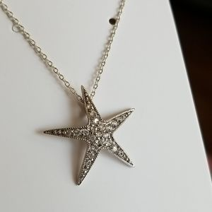 Crystal enhanced STAR Pendant necklace
